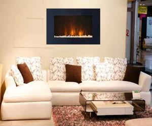 high mounted fireplace