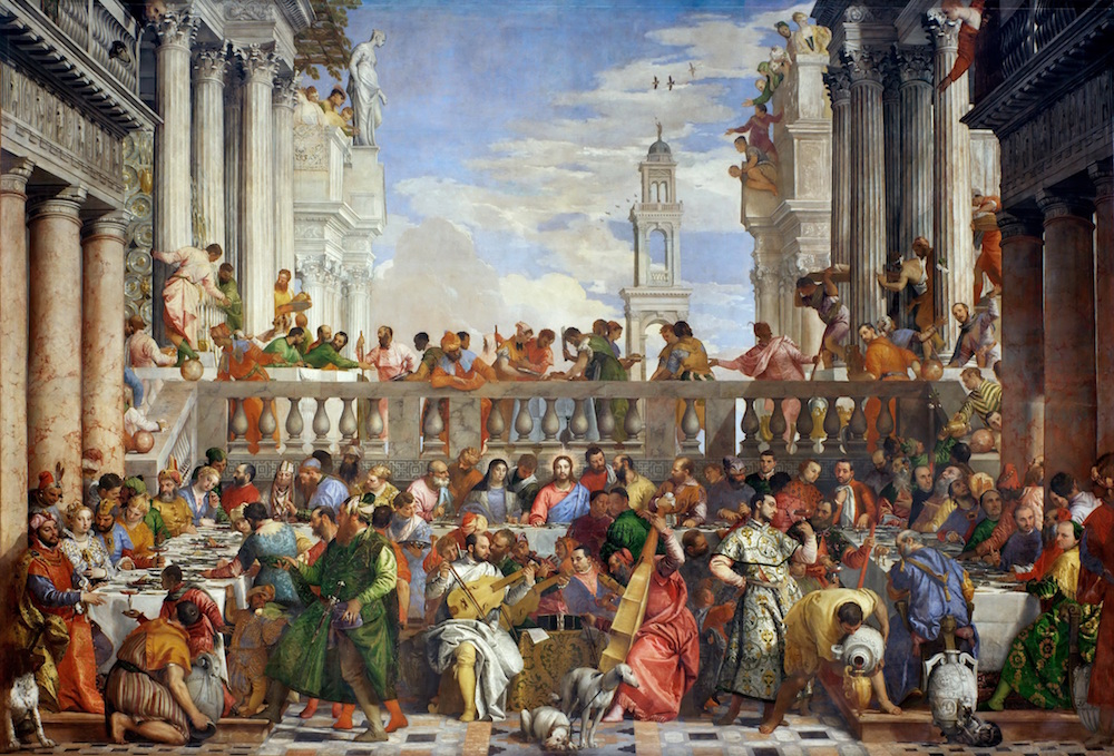 The Wedding Feast at Cana is the Louvre's largest painting.