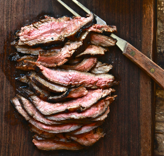 Not my flank steak, but very close! This is from the Clever Carrot.