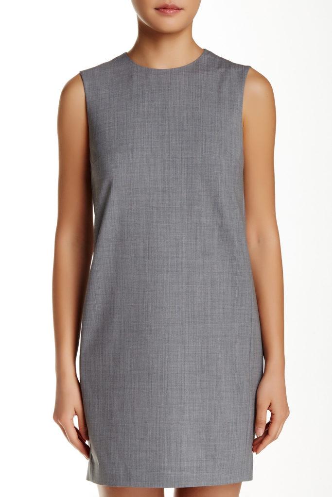 theory audrice sleeveless shift dress