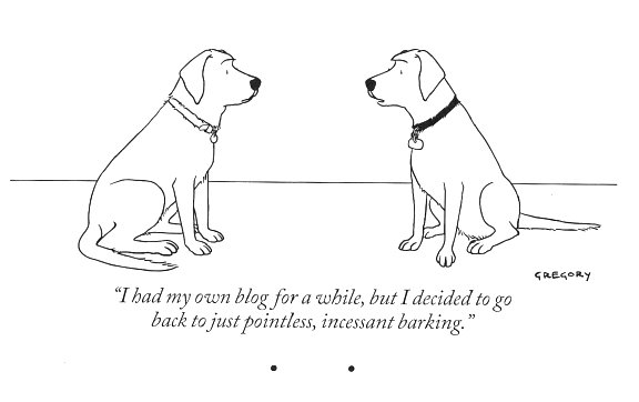 New Yorker dog cartoon barking blog