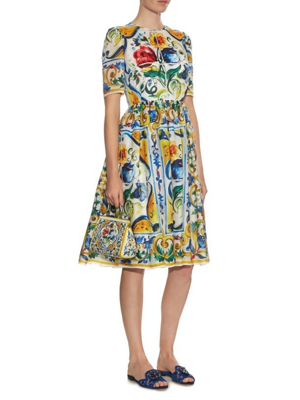 Dolce and Gabbana majolica dress