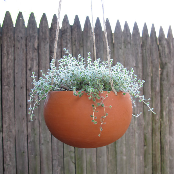 CG Ceramics in Ohio hanging planter