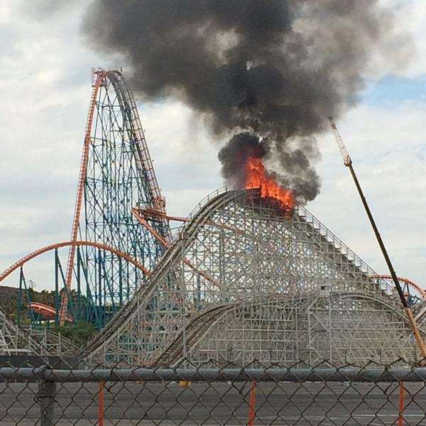 Roller Coaster on Fire